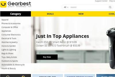 موقع GearBest