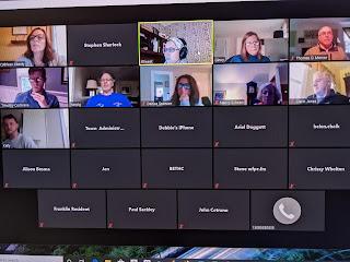 screengrab of Zoom meeting early in the meeting