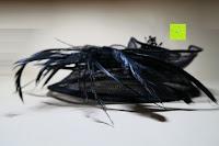 Seite: Valdler Damen Fascinator Hut Mini-Hut Feder Ineinander greifen Netz Fasching Haarschmuck