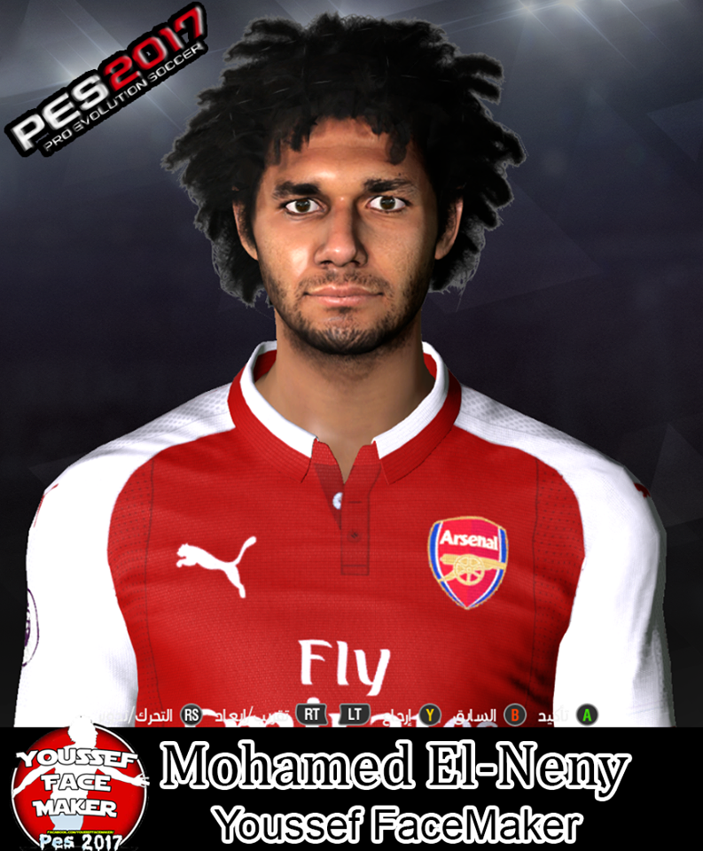 PES 2017 Mohamed El-Neny Face by Youssef Facemaker