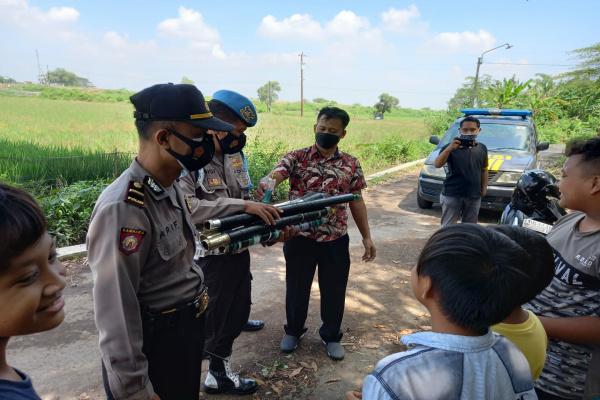 Bikin Gaduh dan Resah Warga, Puluhan Meriam Spiritus Disita Polisi