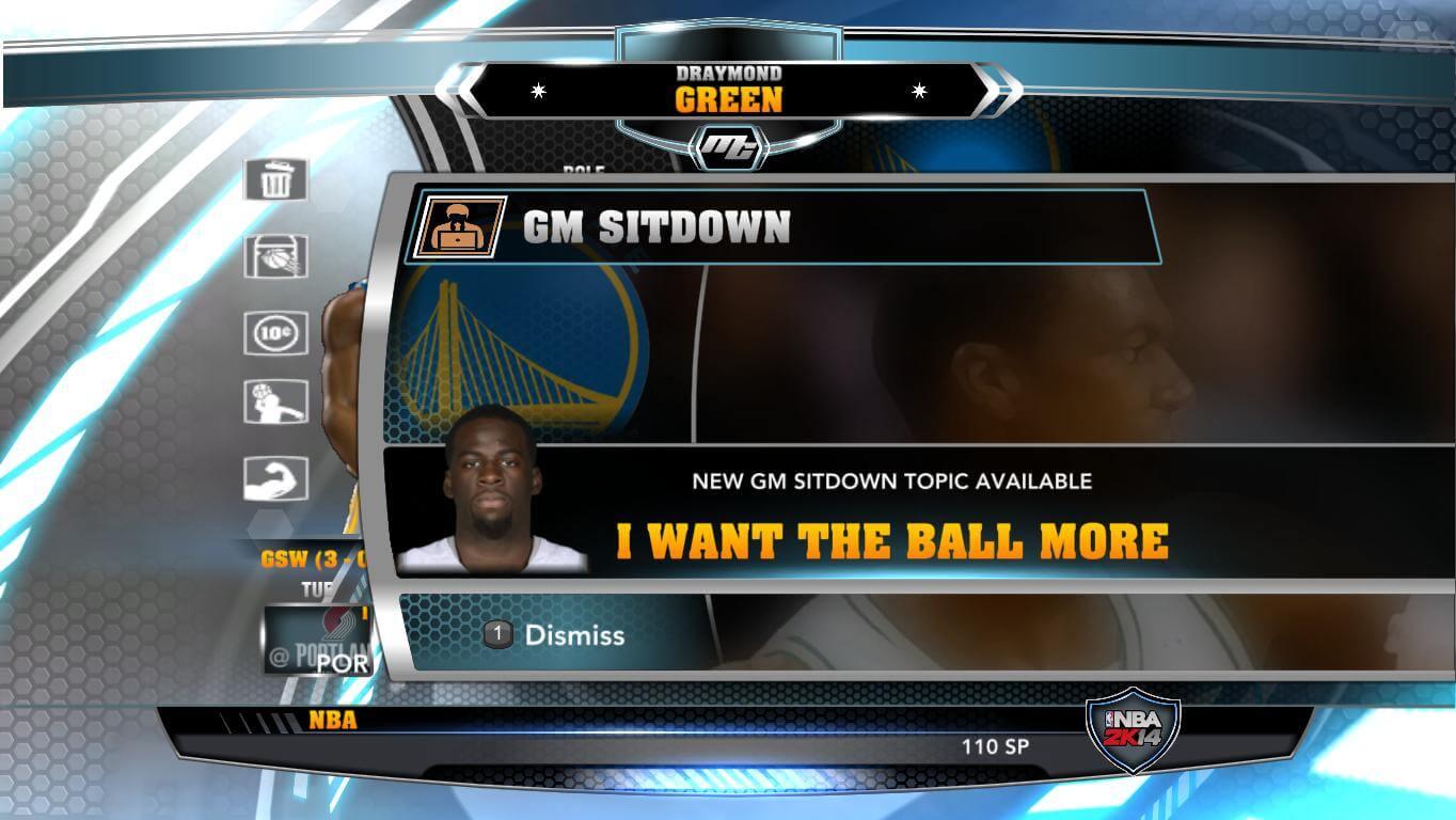 NBA 2k14 MyCareer Mod : Draymond Green - hoopsvilla