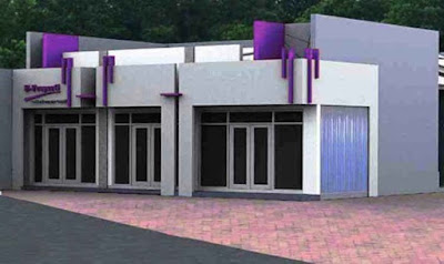 desain ruko minimalis 1 lantai modern - metro properti