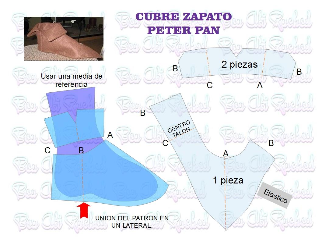 CUBRE-ZAPATOS PARA DISFRAZ DE PETER PAN
