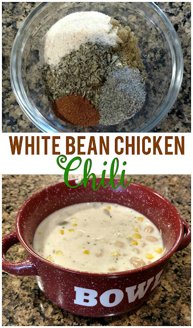 Make a flavorful white bean chicken chili in only 20 minutes from stove to bowl!
