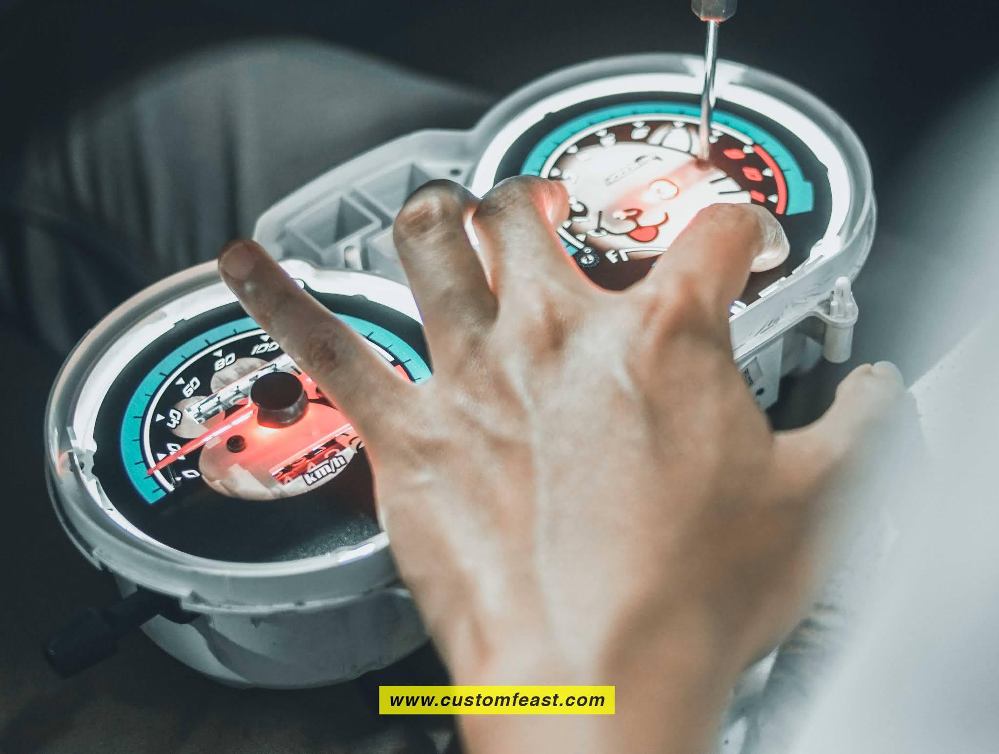 Speedometer Tiger revo custom