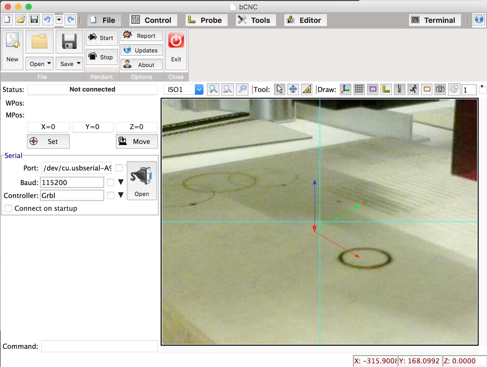 自作CNCマシン・レーザーカッターについて: IPカメラによる加工