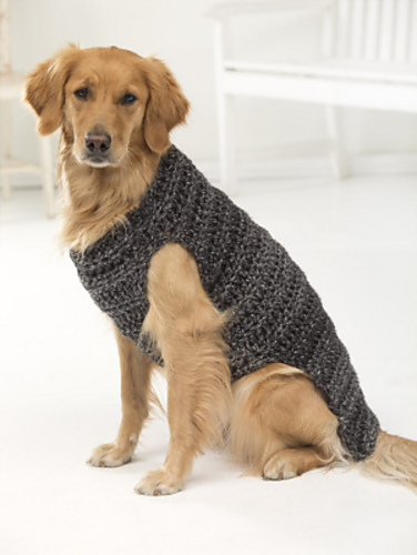 Knitting Pattern For Dog Coat Large : Miss Julias Patterns: Free Patterns - 20 Dog Sweaters to Crochet
