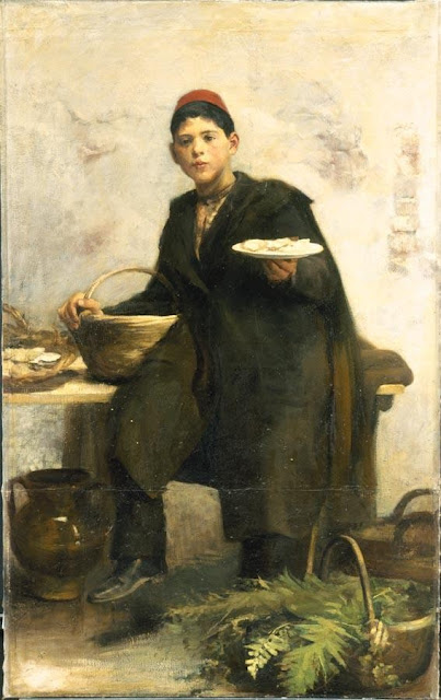 1885. Cesare Tallone - The Oyster Seller
