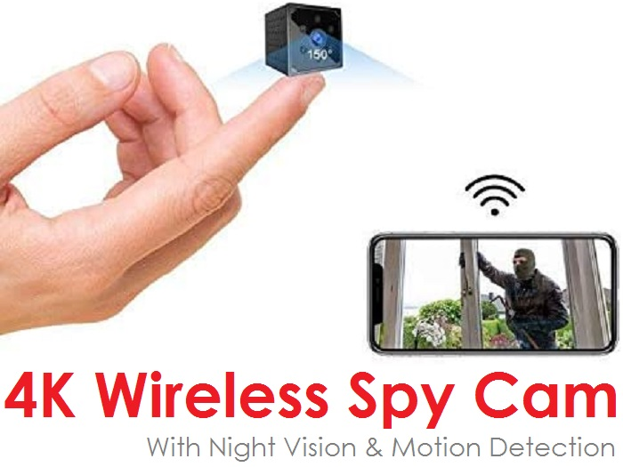 Puoneto Q15 - 4K HD Wireless Spy Camera