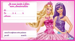 Carte anniversaire Barbie gratuite à imprimer