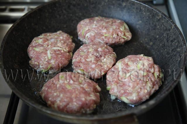 рецепт мясных котлет с кабачками и овсяными хлопьями с пошаговыми фото