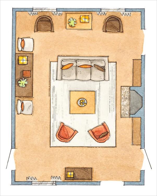 √√ Rectangular LIVING ROOM Layout | Home Interior Exterior ...