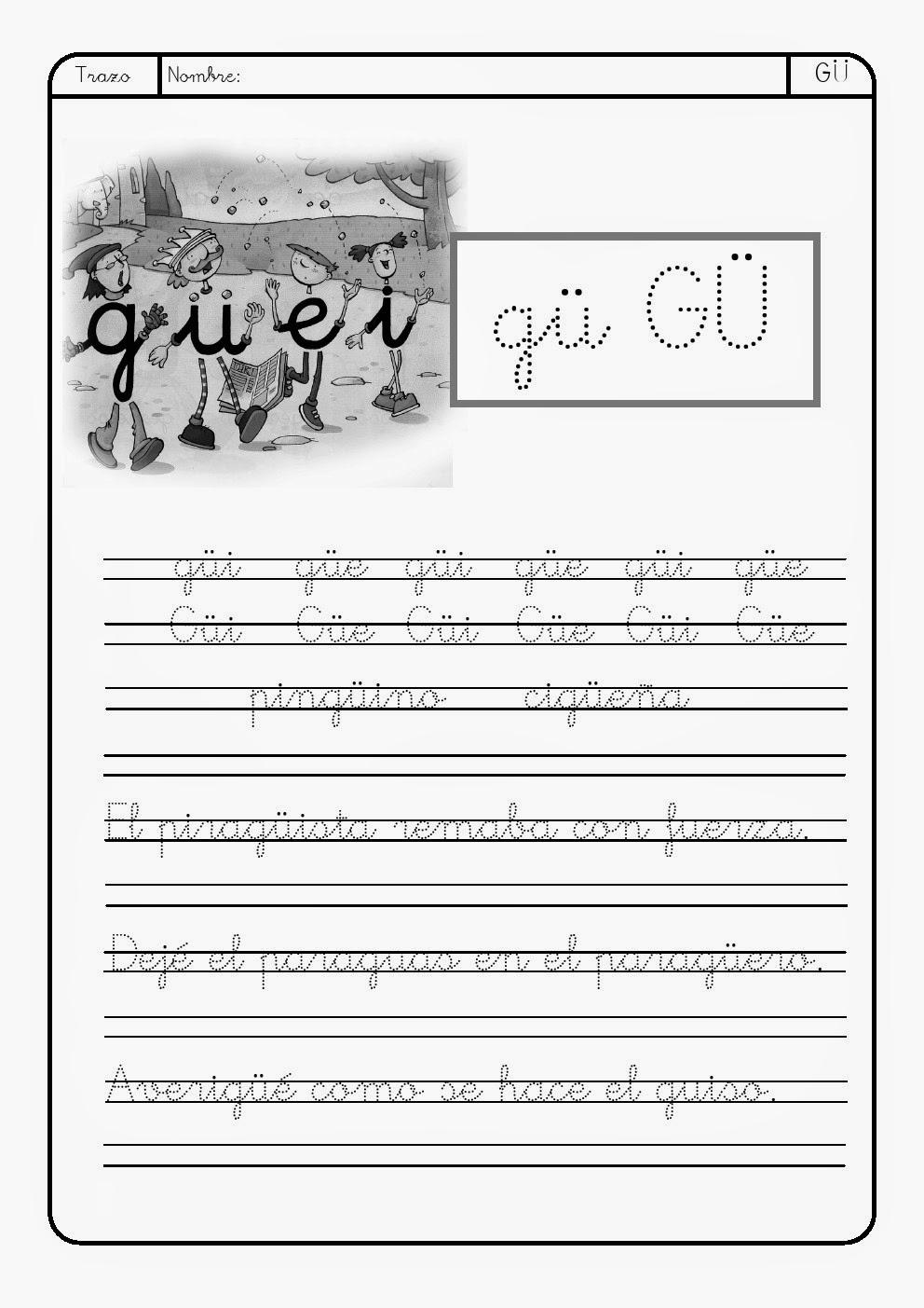 La Eduteca Letra G G Gue Gui Güe Güi