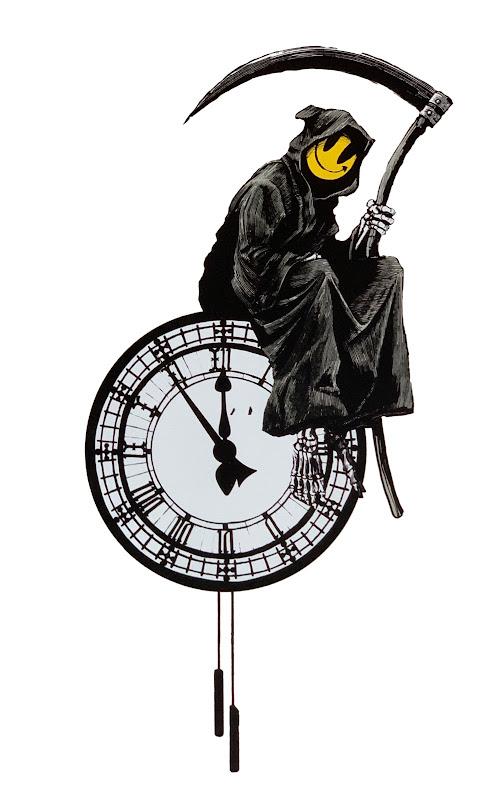 Banksy Grin Reaper - Tik Tak