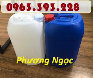 Can nhựa 25L đựng hóa chất, can 25 Lít  vuông tròn, can nhựa nguyên sinh Aa235382d4d32f8d76c2
