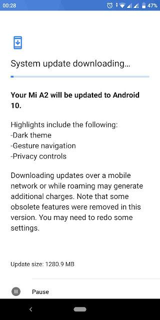 Hore! Mi A2 Resmi Mendapatkan Android 10