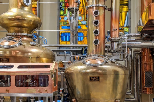 Dublin History: Pearse Lyons Distillery copper pot stills