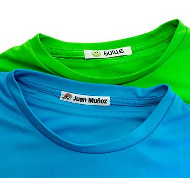 Etiquetas termoadhesivas para marcar la ropa