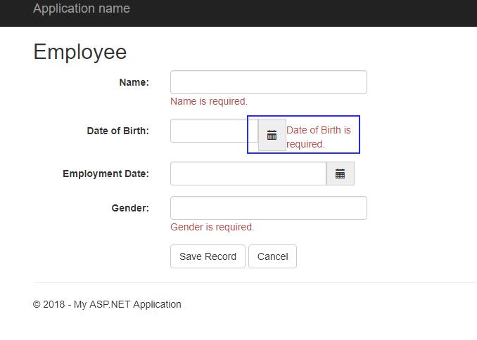 Asp net validating date input