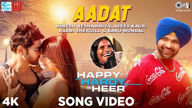 Aadat Lyrics - Happy Hardy And Heer  Himesh Reshammiya - friendslyrics.com