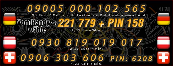 Nummern für Telefonsex mit Latinas - Deutschland, Österreich und Schweiz