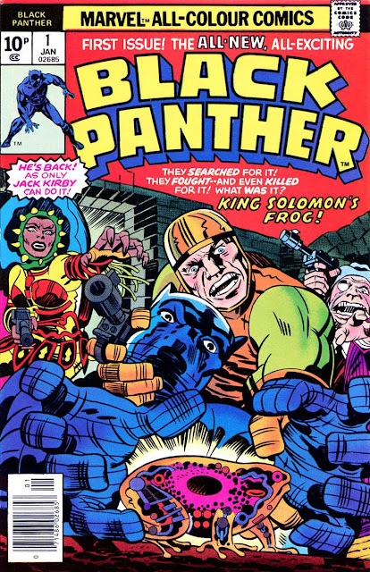 lack Panther v1 #1, 1977 marvel bronze age comic book cover by jack kirby