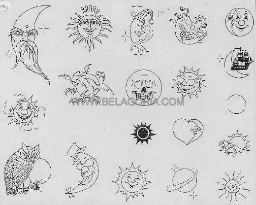 Plantillas Para Tatuajes Sol Y Luna Belagoria La Web De