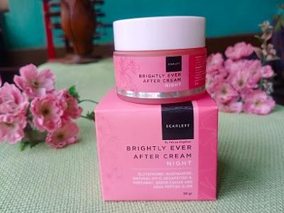 review krim malam scarlett whitening