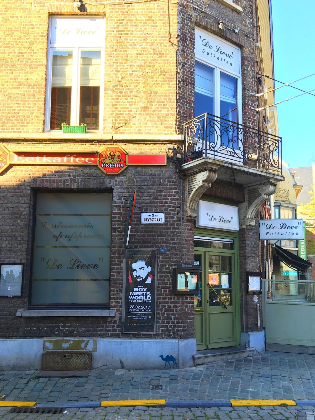 Le Chameau Bleu  - Blog Voyage Gand Belgique - De Lieve Restaurant à Gand Belgique Gent Adresse Food Gand