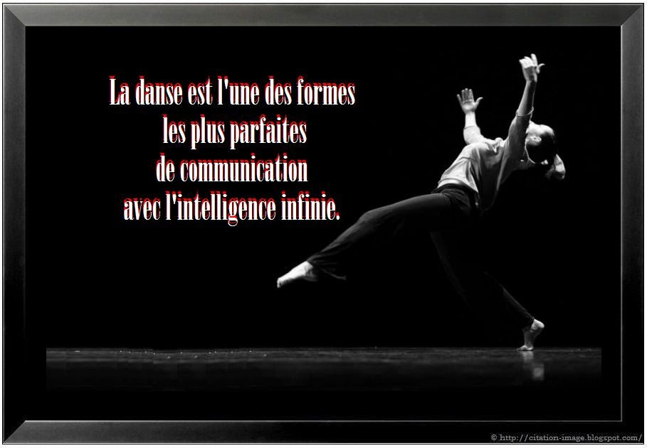 Jolie citation danse en image