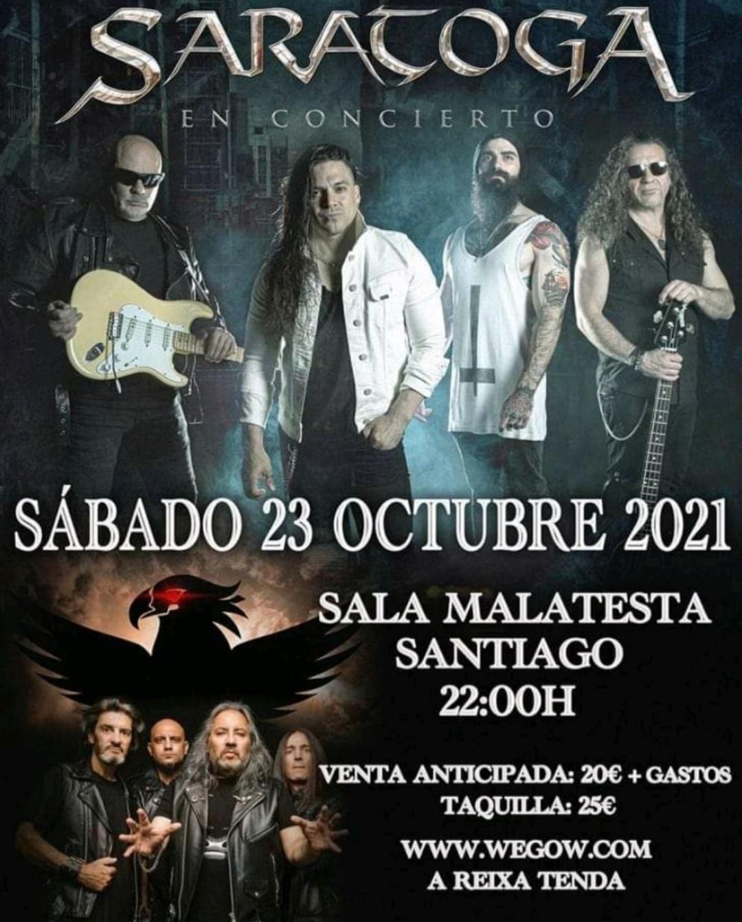 Saratoga concierto santiago