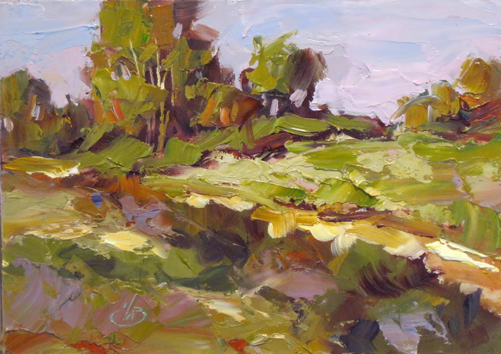 Oil Painting With Palette Knife Plein Air