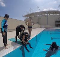 treinamento Jeff entrada piscina