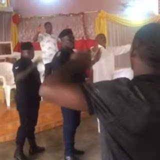 Chaos In Church As Police Arrest Pastor For Holding Service Despite Public Gathering Ban