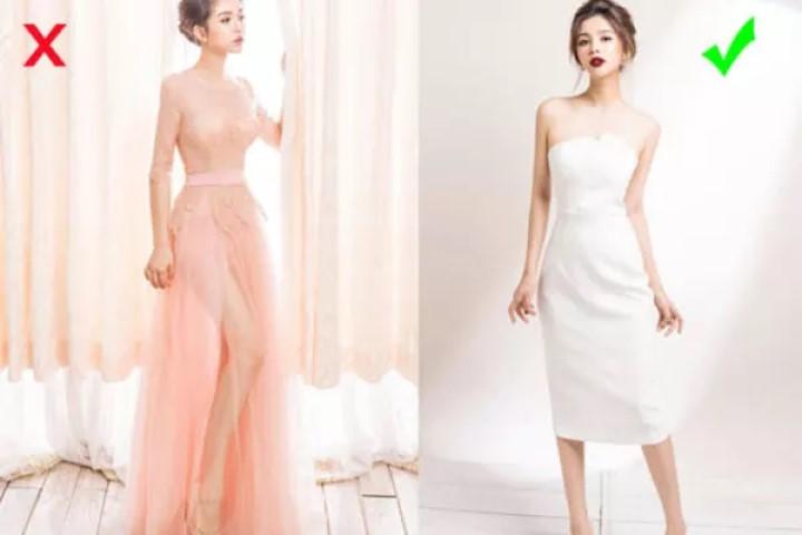 Lỗi chọn trang phục dạ hội cách khắc phục, quy tắc mix dây chuyền hợp với từng dáng váy áo