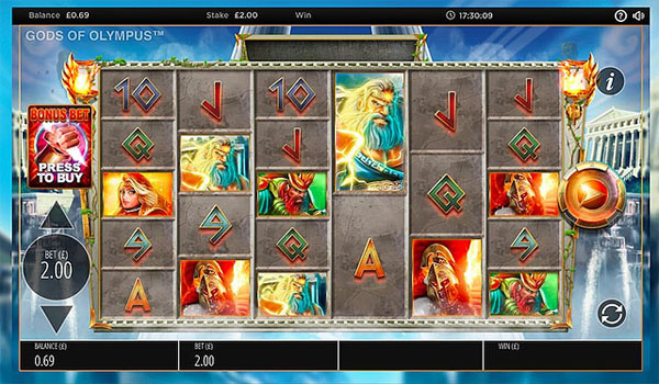 Main Gratis Slot Indonesia - Gods of Olympus Megaways (Blueprint Gaming)