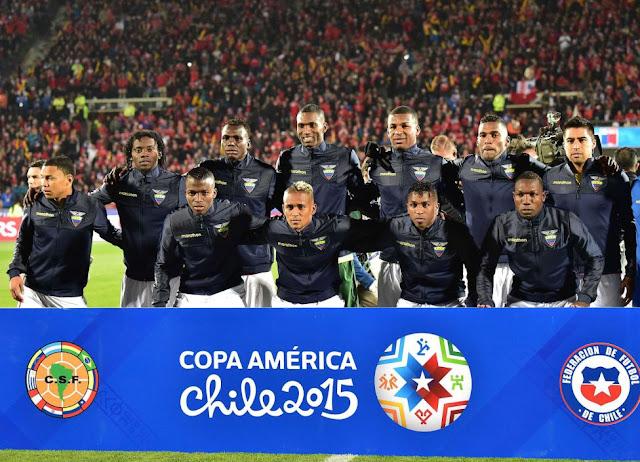 Formación de Ecuador ante Chile, Copa América 2015, 11 de junio