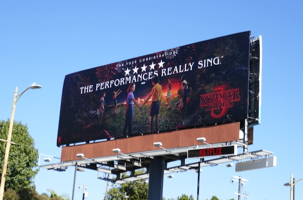 Stranger Things 3 FYC billboard