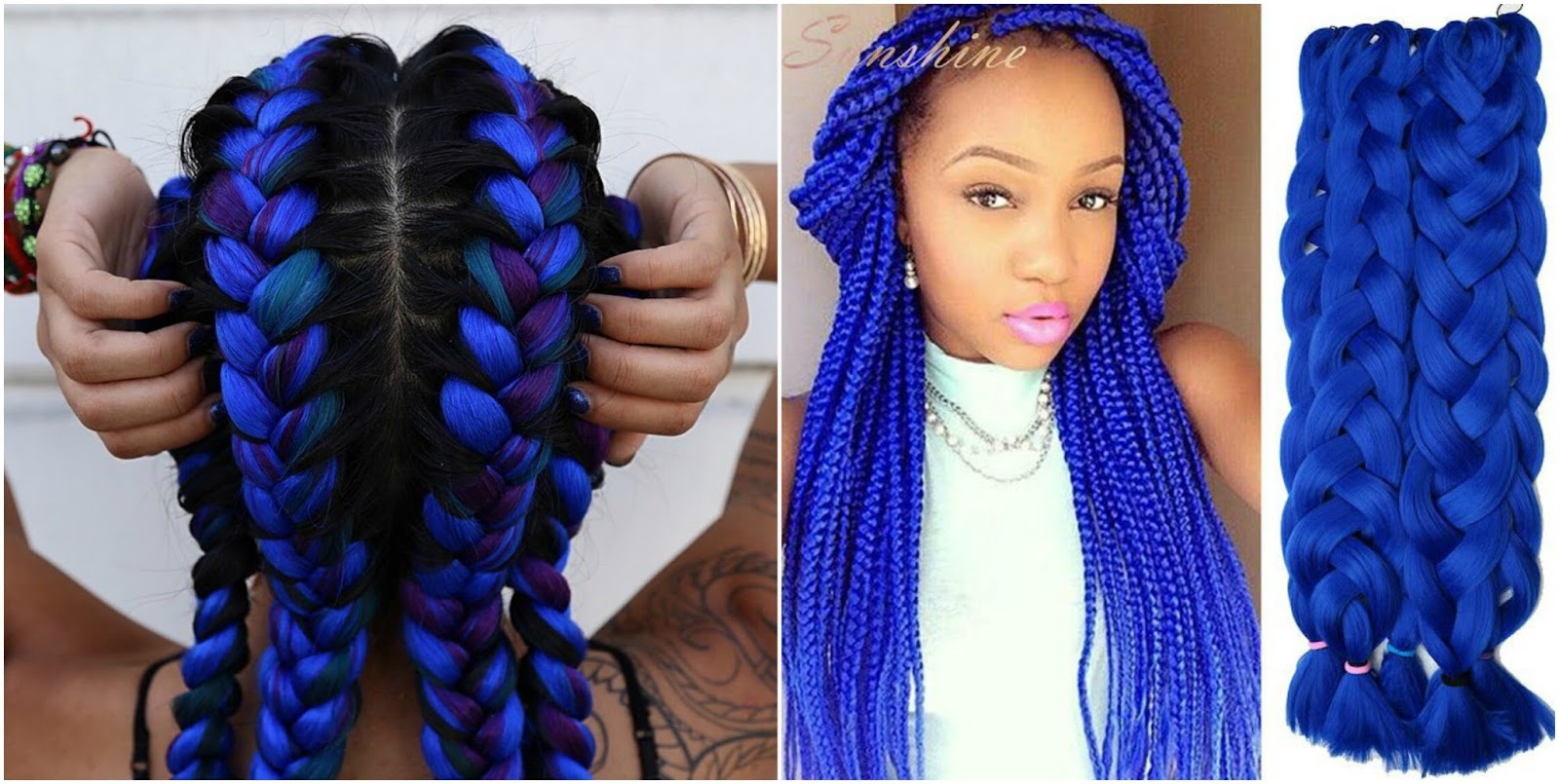 Colorful Summer Box Braid Hair Styles M 201 L 210 D 221 Jac 210 B