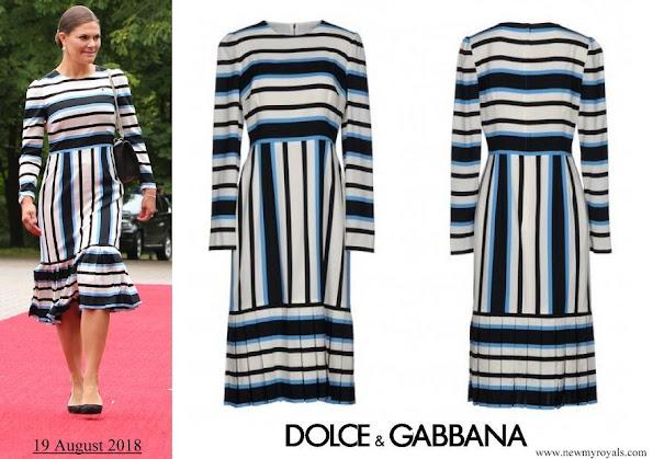 Crown Princess Victoria wore Dolce and Gabbana midi dress