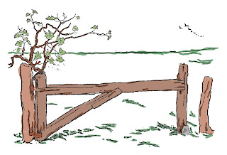 wooden fence country image