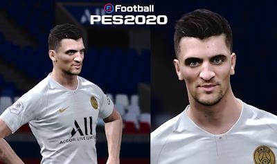 PES 2020 Faces Thomas Meunier by Milwalt