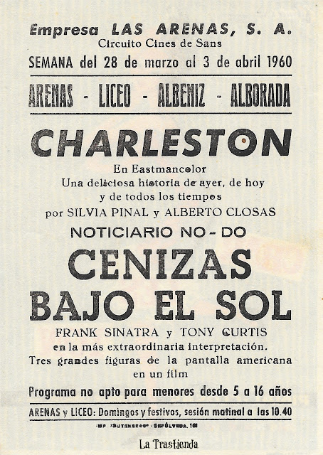 Programa de Cine - Charleston - Alberto Closas - Silvia Pinal