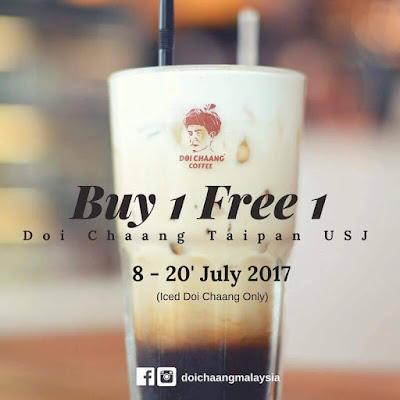 Doi Chaang Caffe Taipan USJ Buy 1 Free 1 Promo