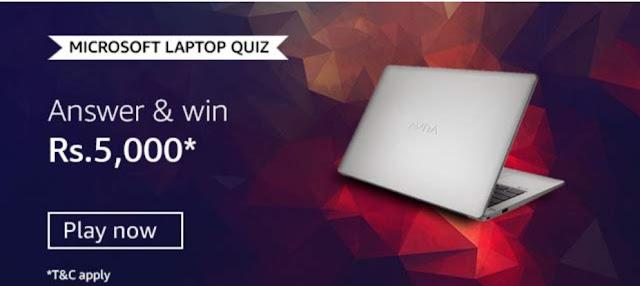 Microsoft Microsoft Laptop Quiz Answers
