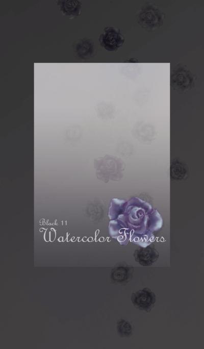 Watercolor Flowers[Rose]/Black11