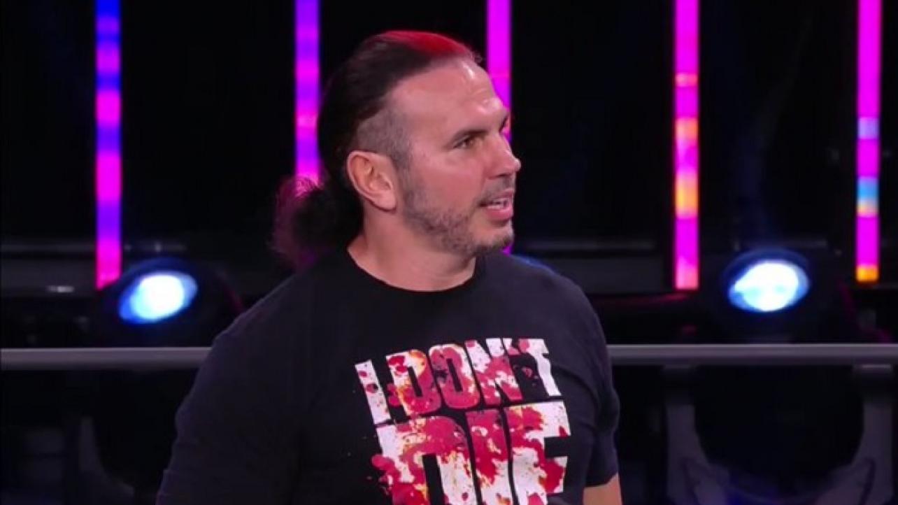 Matt Hardy lança provocações a WWE no AEW Dynamite