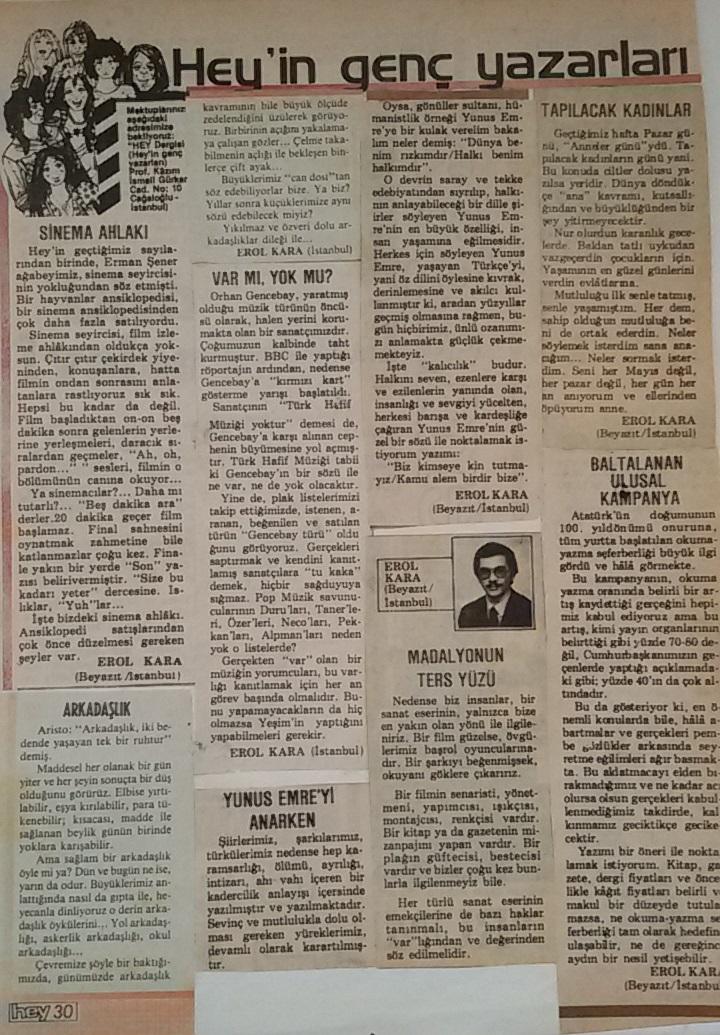 Gençlik Yıllarımdan Yazılarım
