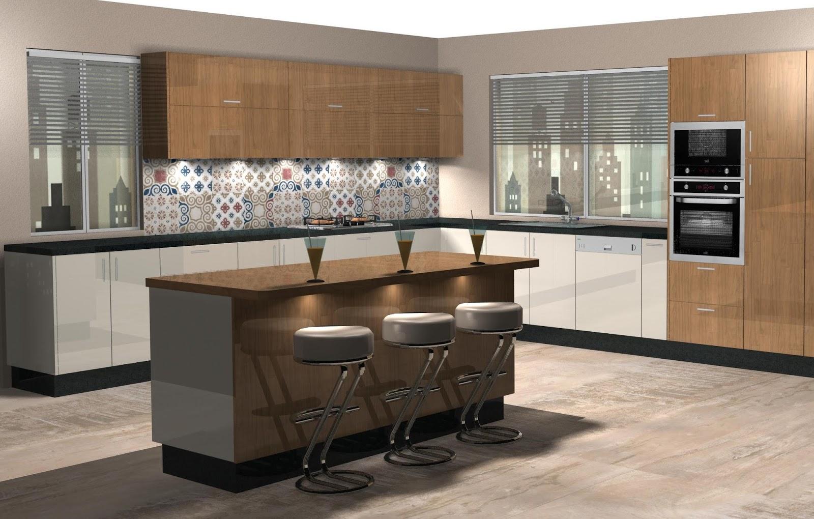 Dise o muebles de cocina dise o de cocina laminado en - Disenos de cocinas de madera ...